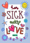 I am sick with love - Songs 5 v 8. — Stock Vector