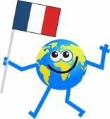 Flag globe cartoon — Stock Vector