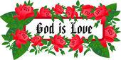 Message GOD IS LOVE — Cтоковый вектор