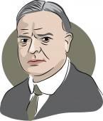 American president Herbert Hoover — Stock Vector