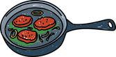 Fried burgers illustration — Stockvector