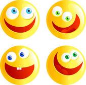 Happy smilies illustration — Stock Vector