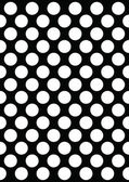 White Polka Dots on Black — Stock Vector