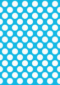 White polka dots on a blue — Stock Vector
