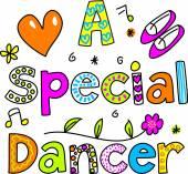 Inscription - une danseuse spéciale — Vecteur