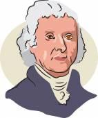 American president Thomas Jefferson — Stock Vector