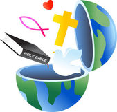 Christian globe — Stockvector