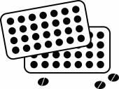 Pills illustration — Stock Vector