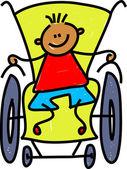 Handicapped little boy. — Vettoriale Stock