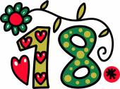 Doodle číslo osmnáct — Stock vektor