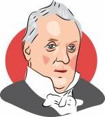 American president James Buchanan — Stock Vector