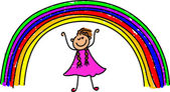 My rainbow cartoon — Stock Vector