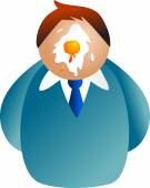 Man and egg on his face — Stock Vector