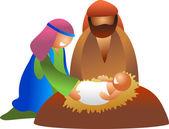 Baby Jesus illustration — Stock Vector