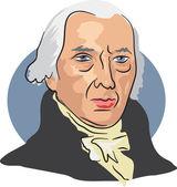 American president James Madison — Stock Vector