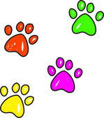 Paw prints illustration — Stock Vector