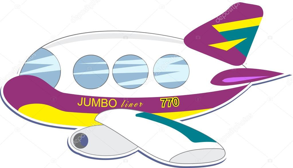 Cute little jumbo jet — vettoriali stock prawny