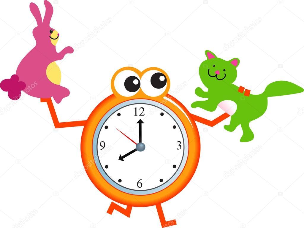Dibujos Animados Reloj Para Mascotas