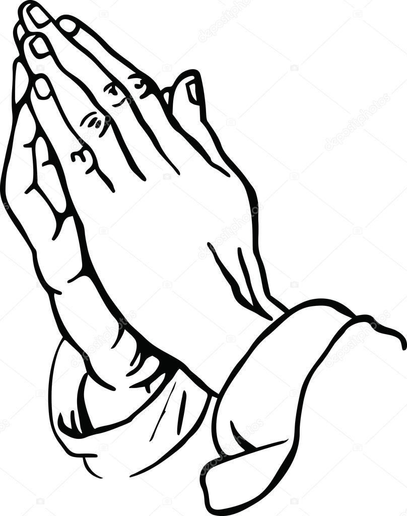 Как нарисовать молящиеся руки