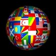 3d World Flag Globe Animation — Stock Video #64597761