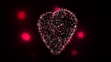 Fire Flies Animating Heart Shape — Stock Video