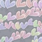 Hand drawn heart shapes — Fotografia Stock