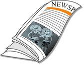 Newspaper Business News — Fotografia Stock