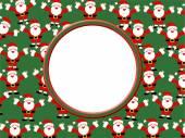 Santa Claus frame — Stock Photo