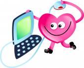 Cartoon Heart character — Stock Photo