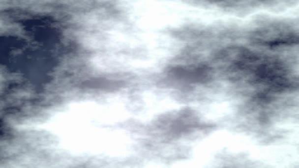 Movimiento de cielo nublado noche oscura — Vídeo de stock