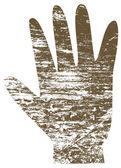 A human hand print — Stock Vector
