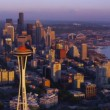Seattle at dusk — Stock Video #65526433