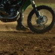 Motocross bike in dirt — Stock Video #65529107