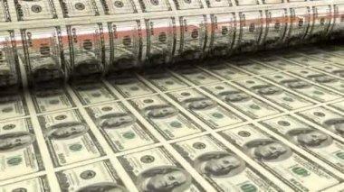 Process of printing money — Stock Video