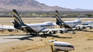 Mojave Airplane Graveyard — Stock Video