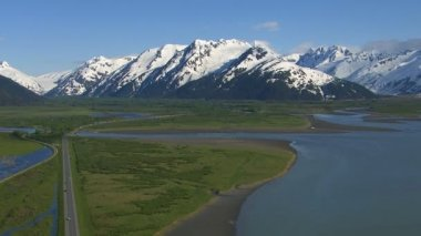 Aerial shot of Alaska — Vídeo de Stock