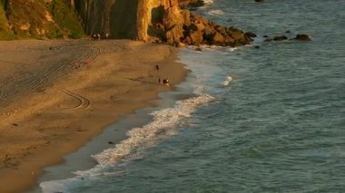 Pacific coastline in Malibu — Stock Video