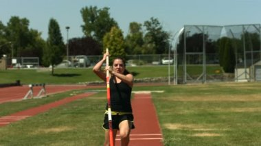 Field athlete doing shot-put — Stock Video