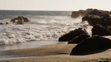 Pacific coastline closeup — Stock Video