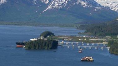 Valdez oil terminal — Stock Video