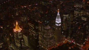 нью-йорк ночью — Стоковое видео