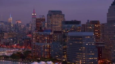 New York Harbor and skyline — Stock Video