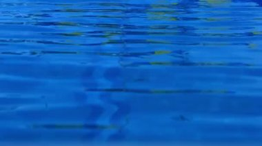 Rippling water in swimming pool — Stock Video