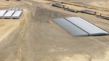 Wind farm construction site — Stock Video