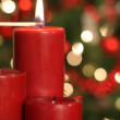 Close up of red candles — Stock Video #65548569
