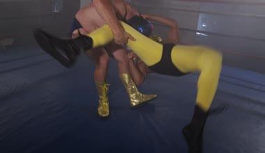Wrestler is body slammed — Wideo stockowe