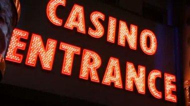 Casino entrance sign — Stock Video
