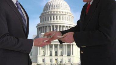 Politician giving bribe — Stock Video