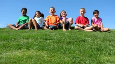 Children of various ethnicities — Stock Video