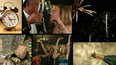 Festa di capodanno — Video Stock